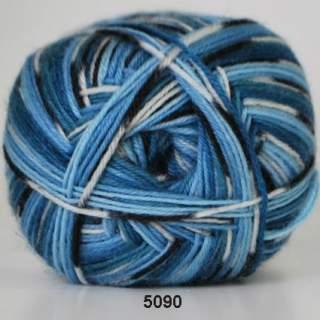 Aloe Sockwool 5090 blå print