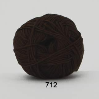 Green Cotton Linen 0712 mörkbrun
