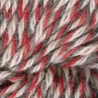 Raggsocksgarn 62425 röd/grå/vit