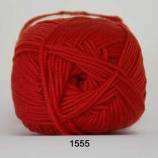 Extrafine Merino 120 1555 ljusröd