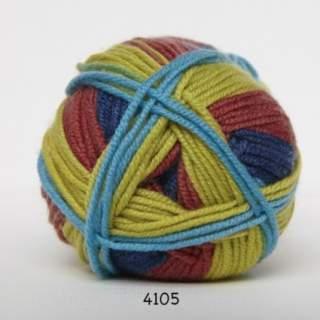 Extrafine Merino 150 4105 oliv/blå/röd