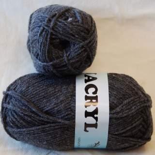Jacryl 26321 mörkgrå