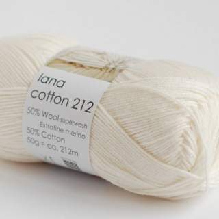 Lana cotton 212 0100 naturvit