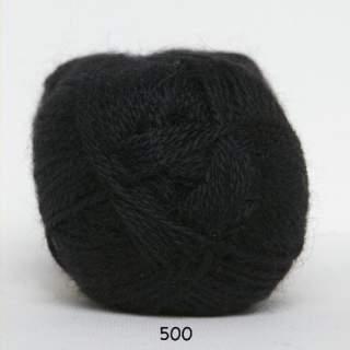 Hjerte Alpaca 0500 svart
