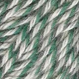 Raggsocksgarn 62423 grön/grå/vit