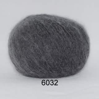 Hjerte Light mohair wool 6032 mörkgrå