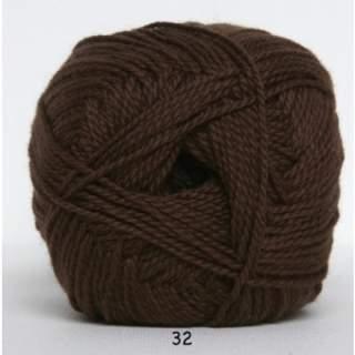 Blöd Bomuld 4/2 nr 8 32 mörkbrun