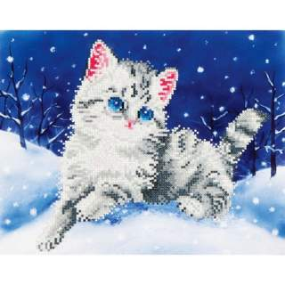 Diamond Dotz DD5.006 KITTEN IN THE SNOW