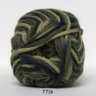 Ragg strømpegarn 7716 armegrön