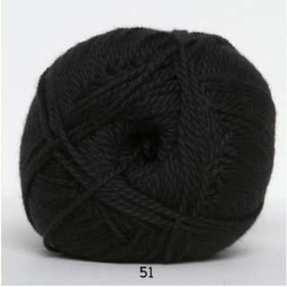 Blöd Bomuld 4/2 nr 8 51 svart