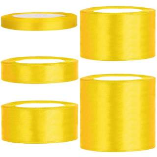 Satinband rulle 15 yellow